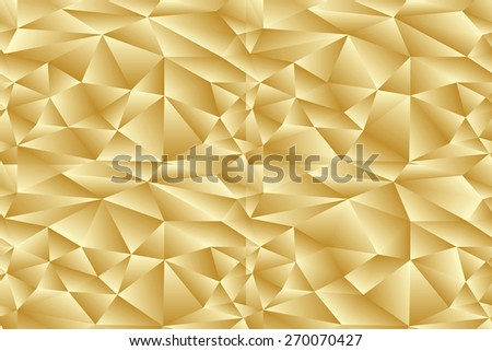seamless abstract golden pattern sand texture abstract brown line on beige background with tetrahedron. raster illustration - stock photo