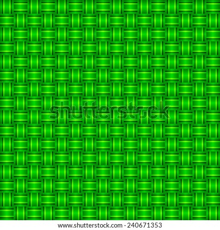 seamless abstract green pattern emerald texture with green line wicker emerald background raster - stock photo