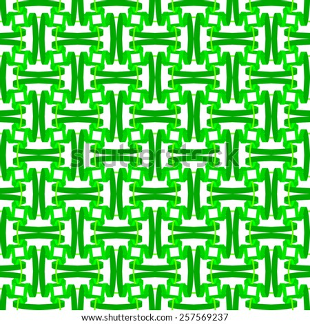 seamless abstract green pattern emerald texture with green line wicker on white background raster - stock photo