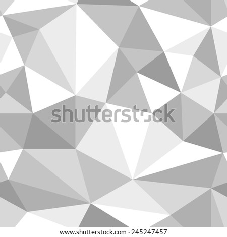 seamless abstract grey white pattern gray texture abstract grey line on white background with tetrahedron raster - stock photo