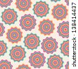 Seamless abstract pattern with color wavy circles - stock photo