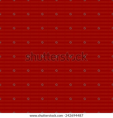 seamless abstract red pattern red orange texture dark red line with silver ring with silver rivet on dark red background raster - stock photo