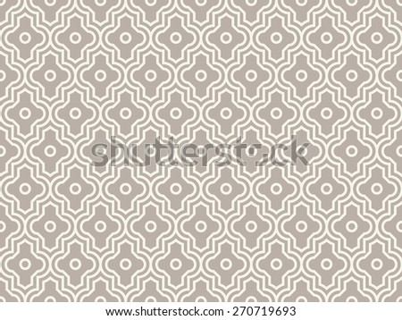 Seamless anthracite gray enhanced moroccan pattern - stock photo