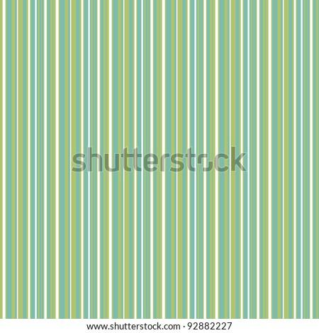 Seamless Aqua, Green, & White Striped Background - stock photo