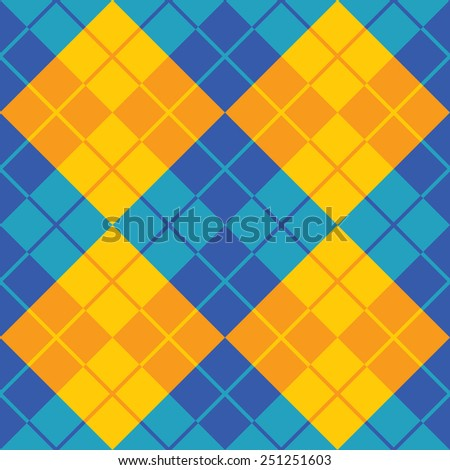 Seamless argyle pattern in contrasting colors. - stock photo