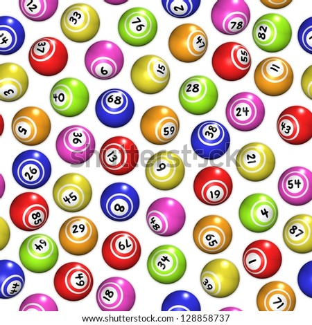 Seamless background made of bingo balls - stock photo