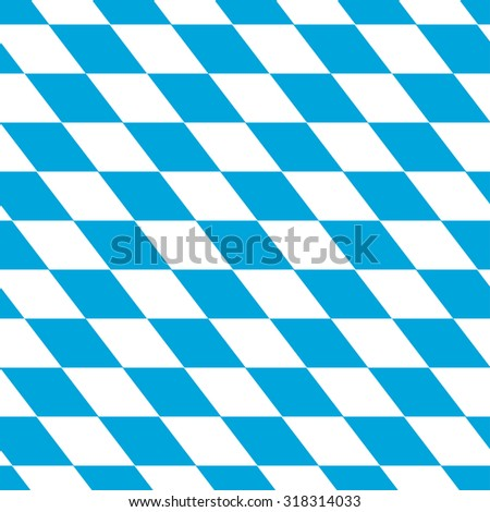 seamless background of bavarian colors white and blue - stock photo