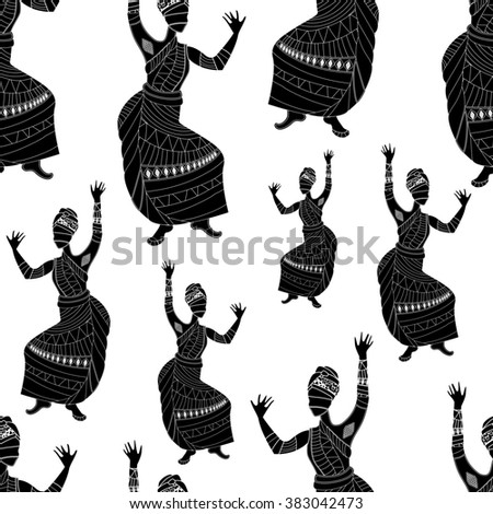 seamless background of the people is perfect for your projects! - stock photo