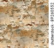 seamless background texture of old stone wall - stock photo