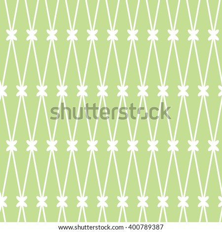 seamless background. White grid on the green background - stock photo