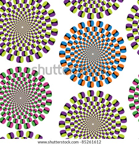 Seamless background with optical illusion (jpg) - stock photo