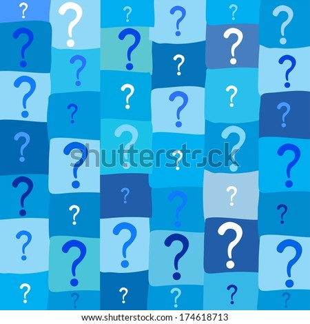 Seamless background with question signs.  illustration  - stock photo
