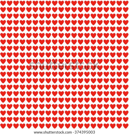 Seamless background with red hearts, heart on a white background, love and happiness in one symbol. Heart Valentine. Valentine's Day.  - stock photo