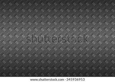 seamless black metal background. - stock photo