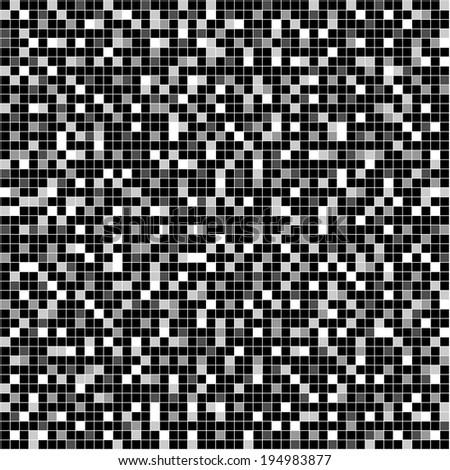 seamless black white mosaic - stock photo