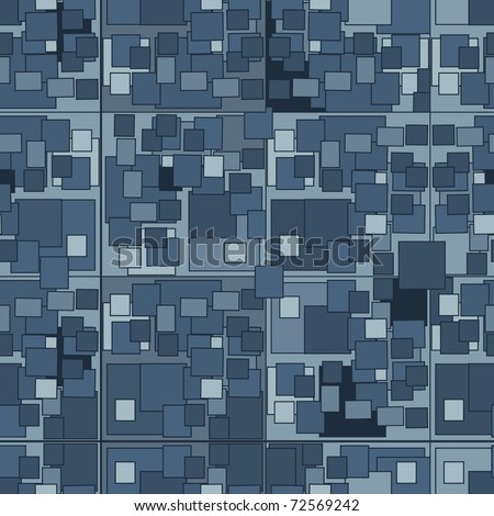 Seamless blue tile pattern. Vector version is in my portfolio - stock photo