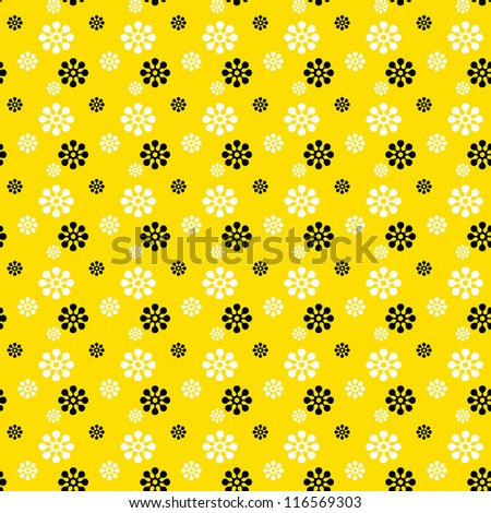 Seamless Bright Floral Background - stock photo