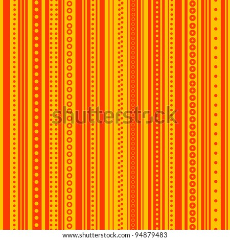 Seamless Bright Yellow & Orange Stripe Background Wallpaper - stock photo