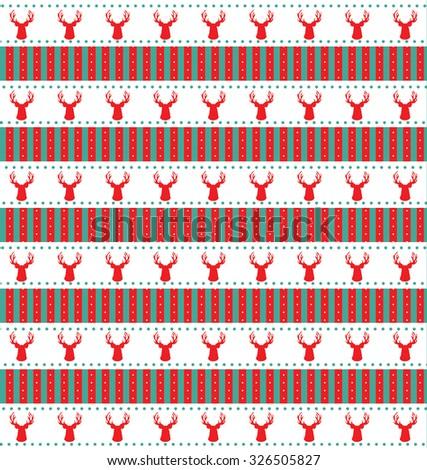 Seamless Christmas pattern  - stock photo