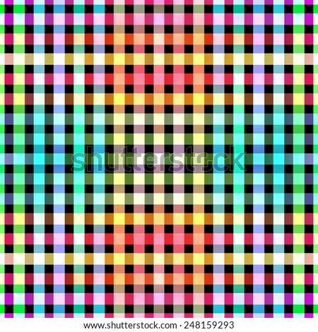 Seamless color blocks grid pattern background - stock photo