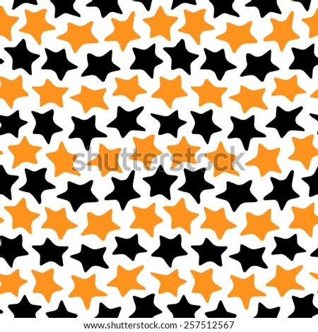 Seamless colorful pattern made of abstract dancing stars - stock photo