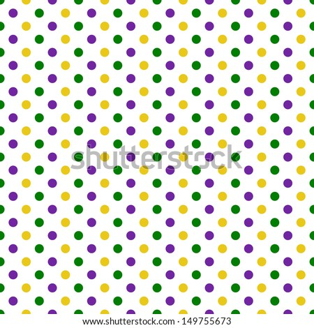 Seamless Colorful Polka Dot Pattern - stock photo