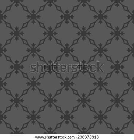 Seamless dark gray vintage revival geometric pattern - stock photo