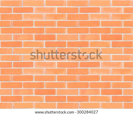 Seamless design vintage style red brown tone brick wall detailed pattern textured background: Seamless retro grungy brickwork masonry detail backdrop in light white gray color tone  - stock photo