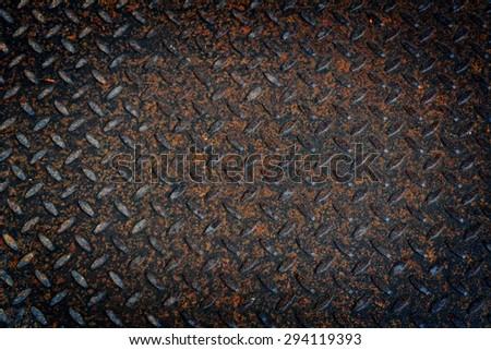 Seamless Diamond Metal floor - stock photo