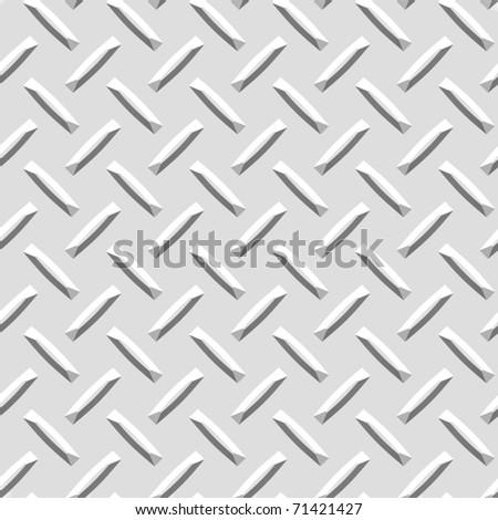 Seamless Diamond plate texture - stock photo