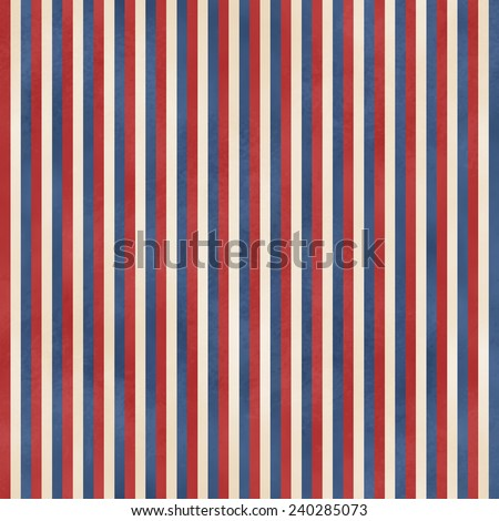 Seamless Faded Red, White, & Blue Stripe - stock photo