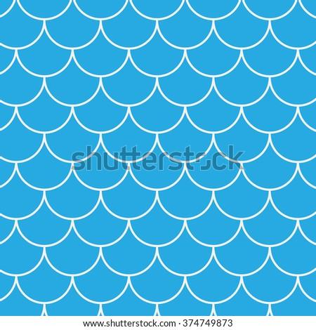 Seamless fish pattern - stock photo