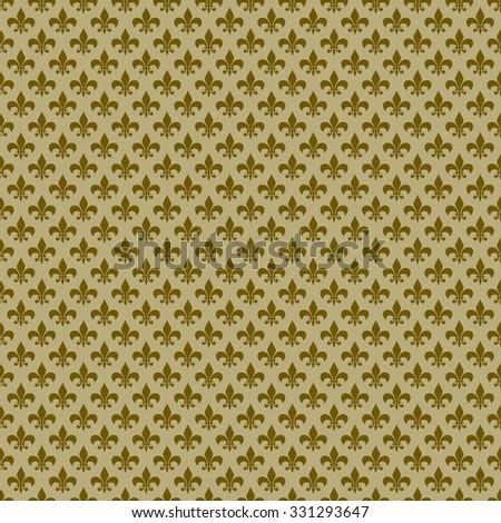 Seamless Fleur de Lis Pattern - stock photo