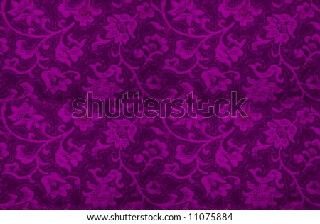 Seamless floral background - stock photo