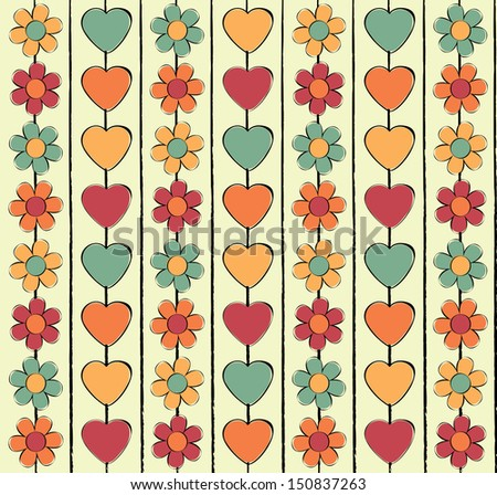 seamless floral background pattern  - stock photo