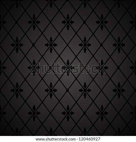 Seamless floral geometric pattern.  illustration - stock photo