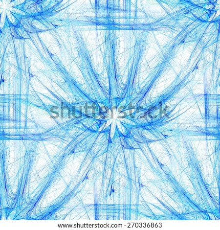 Seamless floral motif in blue spectrum. Plasmatic background - stock photo