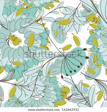 Seamless floral pattern.  - stock photo