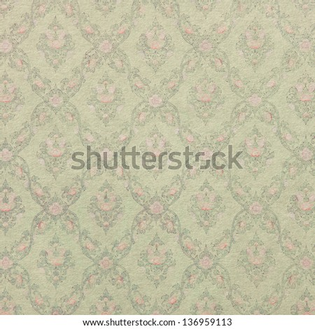 Seamless Floral Pattern Background - stock photo