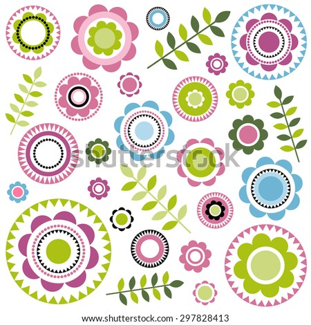 seamless floral pattern. Raster version - stock photo
