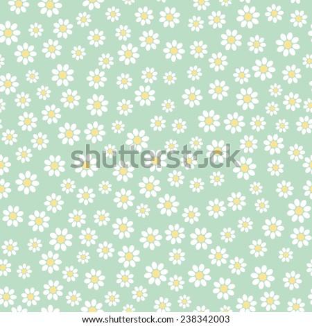 Seamless flower pattern  - stock photo