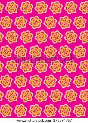 Seamless Flower Pattern Background - stock photo