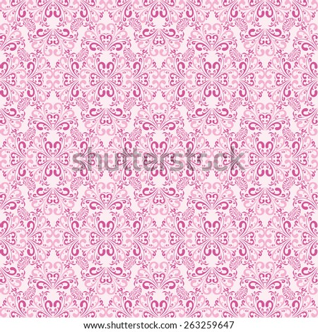 Seamless gently-pink Wallpaper. Raster version. - stock photo