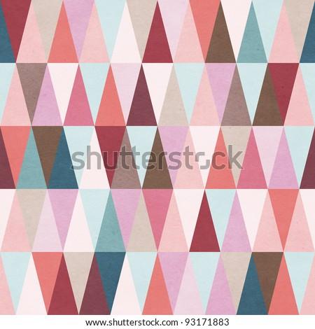 Seamless geometric pattern - stock photo