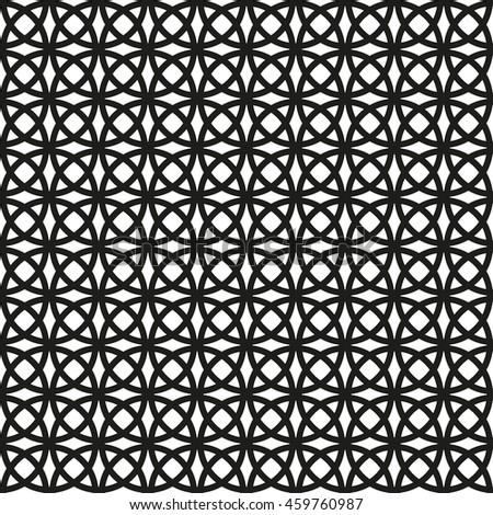 Seamless geometric pattern. Decorative lace texture. - stock photo
