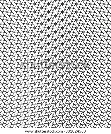Seamless geometric pattern of the hexagonals and curved triangles elements - stock photo