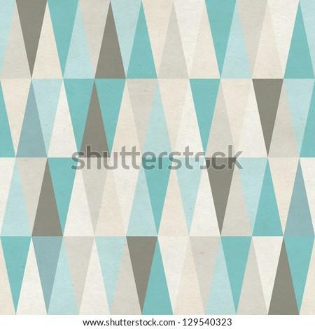 Seamless geometric pattern on paper texture - stock photo