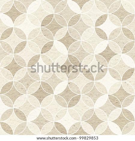 Seamless geometric pattern on paper texture. - stock photo