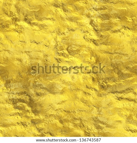 Seamless gold texture (computer graphic, big collection) - stock photo