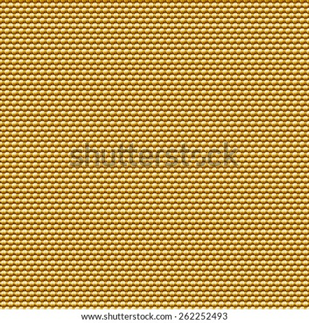 Seamless golden fabric background. - stock photo